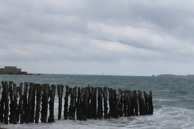 Beach in St Malo France