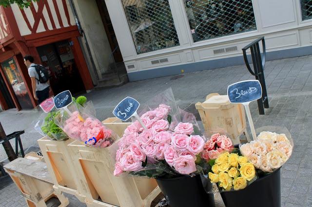 Flower market in Rennes France