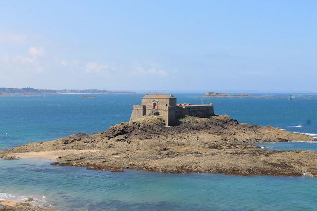 island off of St Malo France, coast vacation