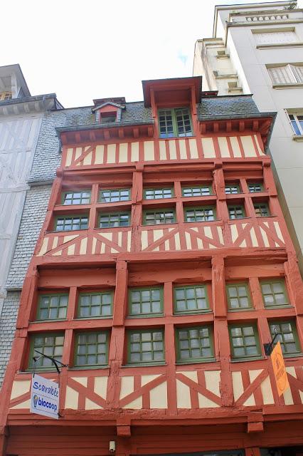 Medieval buildings rennes france