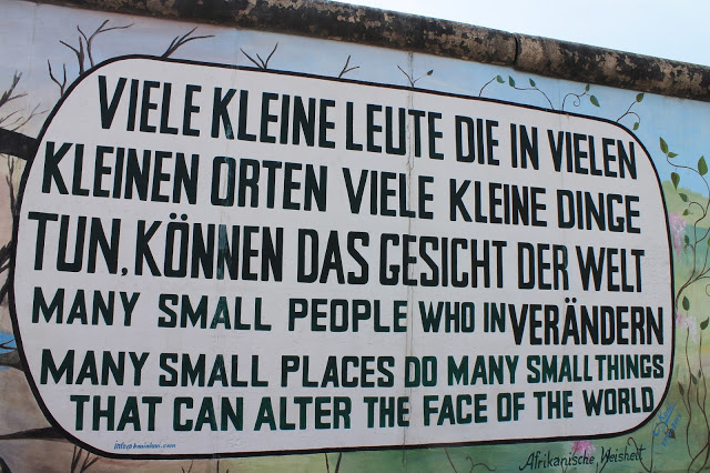 outdoor art gallery in berlin germany  on the berlin wall celebrating peaceful art and protest