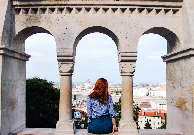Girl travelling budapest hungary on a budget