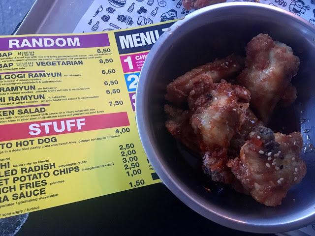 Great korean fried chicken restaurant in Kreuzberg Berlin Germany