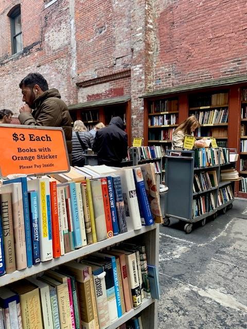Rows of books, bookshop